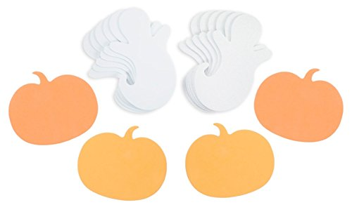 Nikki's Knick Knacks 24 Halloween Foam Shapes- 12 Pumpkins & 12 Ghosts