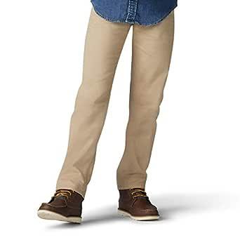 Lee Boys' Little Performance Series Extreme Comfort Straight Fit Jean, Khaki, 4 Regular