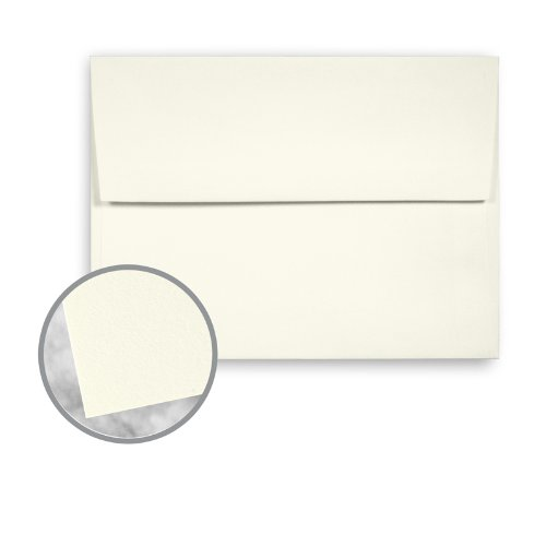 CRANE'S CREST Pearl White Envelopes - A6 (4 3/4 x 6 1/2) 28 lb Writing Wove 100% Cotton Watermarked 250 per Box by Neenah