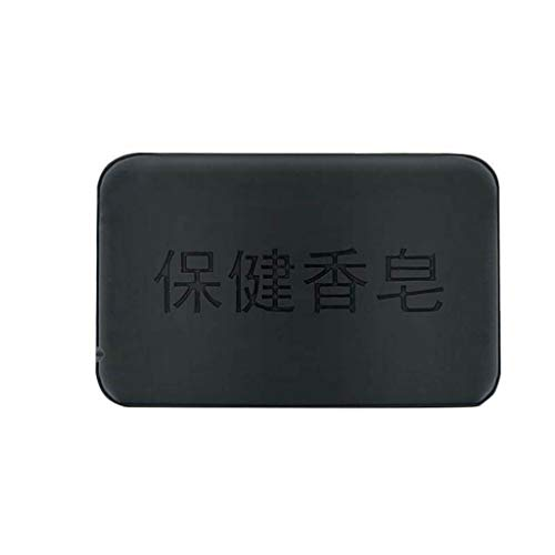 Orcbee  _Black Bamboo Charcoal Soap Face Body Clear Anti Bacterial Tourmaline Soap