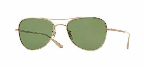 Oliver Peoples - Executive Suite - 1198 53 - Sunglasses (GOLD, - Oliver Style Glasses Peoples