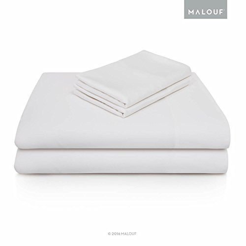 MALOUF 100% Rayon from Bamboo Sheet Set - 4-pc Set - Queen -