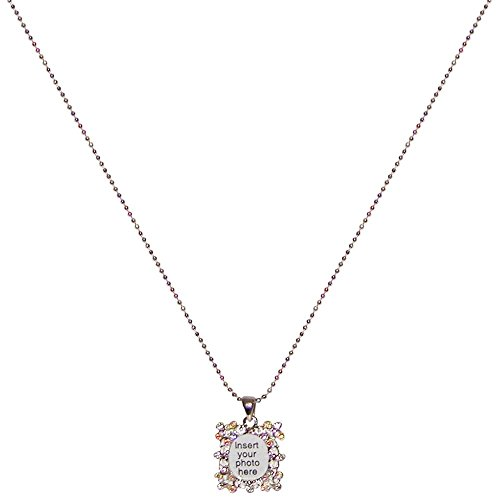7-8-x-3-4-rhinestone-encrusted-small-picture-frame-necklace-15-in-multi-pastel-with-silver-tone-fini