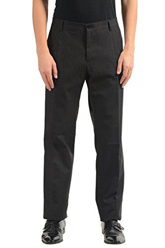 Dolce & Gabbana Men's Wool Striped Flat Front Dress Pants US 38 IT 54