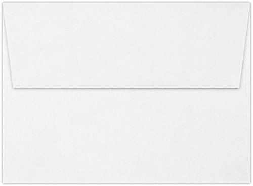 - A6 Invitation Envelopes (4 3/4 x 6 1/2) - 24lb. Classic Crest Bright White - 100% Recycled (50 Qty.) | Perfect for Invitations, Announcements, Sending Cards, 4x6 Photos | 4875-70RBW-50
