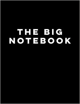 Amazon.com: The Big Notebook: 8.5