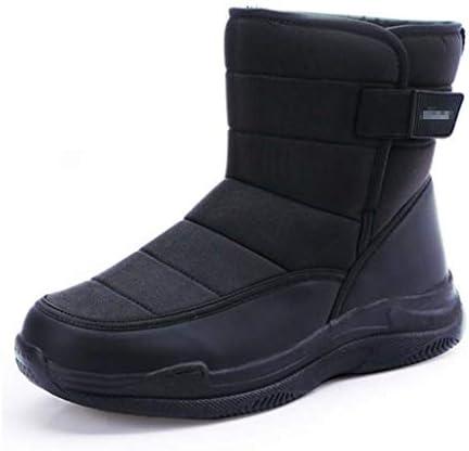 メンズ冬のハイトップの雪のブーツ太い豪華なコールドプルーフ暖かい綿の靴防水ラウンドヘッド太いボトム超ファイバーライニング (色 : 黒, サイズ : 27 CM)