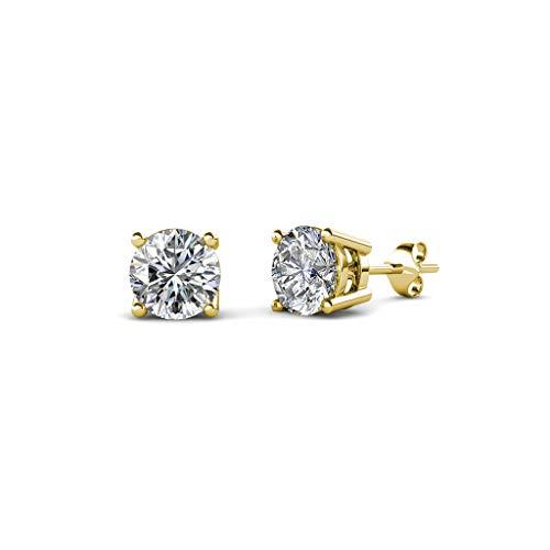 Vs1 Earring (TriJewels IGI Certified Lab Grown Diamond Stud Earrings (VS1-VS2, H-I) 1.00 ctw 14K Yellow Gold)