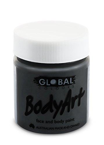 Global Body Art Face Paint - Liquid Black (45 ml/1.5 oz)