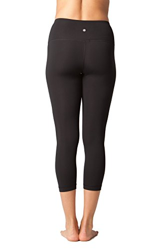 Yogalicious 22in Inseam High Waist Capri - Women's Black, M by Yogalicious (Image #3)