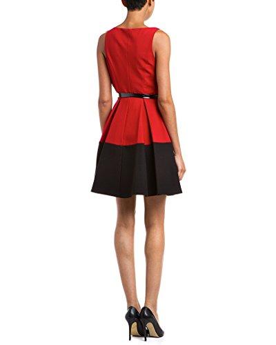 ABS by Allen Schwartz Women's Sleeveless Party Dress 6 Red