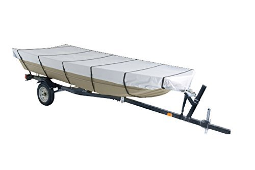 Boat Reflective Cover Polyester - Goodsmann Jon Boat Covers ,Silvery gray ,water resistant,weather protection,trailerable,9921-0152-23( C, 16' L, 75