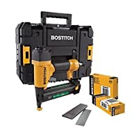Stanley Bostitch 2-in-1 40mm Pneumatic Brad Nailer & Stapler includes Kitbox, 5000 nails, 3000 staples