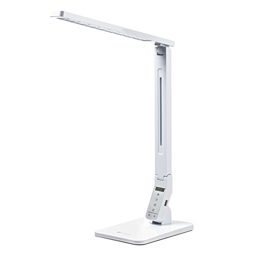 Etekcity Dimmable LED Desk Lamp, 4 Lighting Modes (Reading/Study/Relaxation/Sleep), 5-Level Dimmer, 1-Hour Auto Timer, Eye-care, Multifunctional Touch-Sensitive lamp, 5V/1.5A USB Charging Port, White