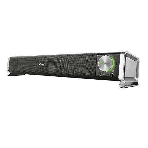 Trust Asto - Barra de Sonido para PC (12 W, conexión USB, estándar), Color Negro