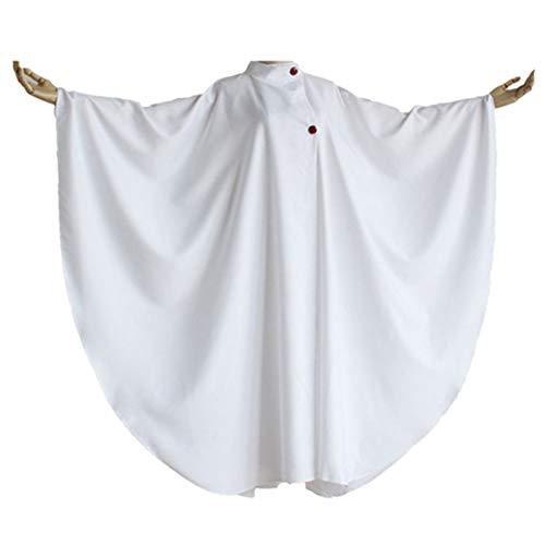 qyy Anime Cosplay Costume Halloween Uniform White Cloak,White-Large Size