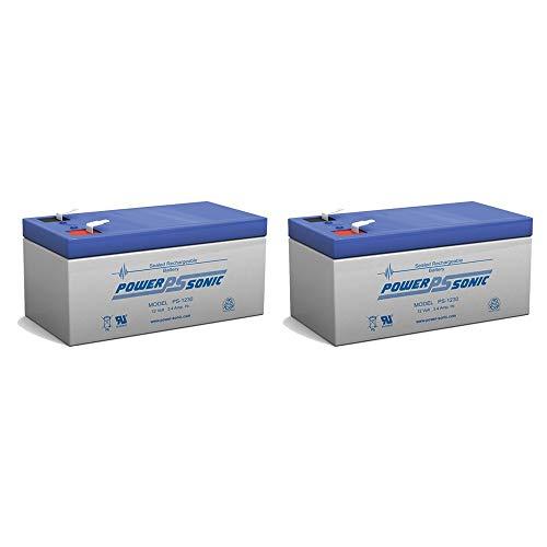 UPG Sealed Lead-Acid Battery - AGM-type, 12V, 3.4 Amps, Model# UB1234 - 2 Pack ()