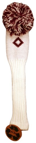 AB Golf Designs Throwback Collection Knitted Utility Head Cover (LE/Burgundy), Outdoor Stuffs