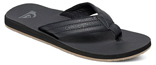 Quiksilver Men's Carver Nubuck 3 Point Sandal, Solid Black, 10 M US Quiksilver Mens Point