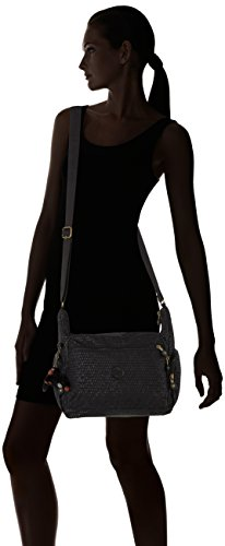 Kipling Shoulder Women's Gabbie Kipling Bag Black Scarlet Women's Emb Gabbie Black rrpZCq
