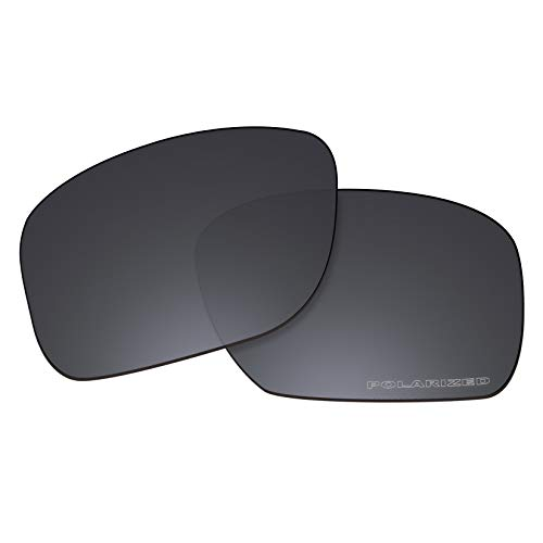 OOWLIT Replacement Lenses Compatible with Oakley Holbrook Sunglass Black Combine8 Polarized