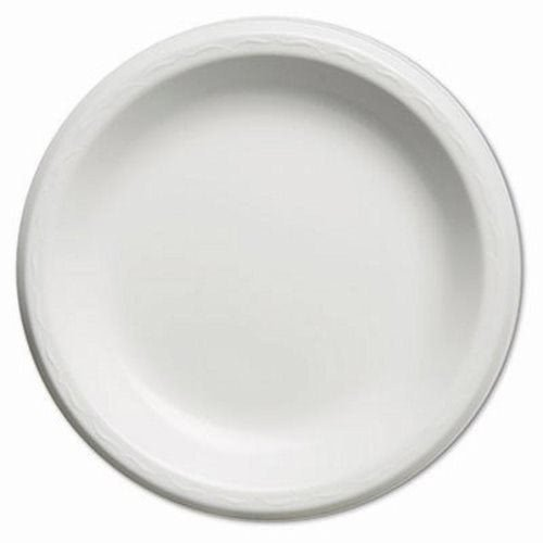- Genpak LAM09 9-Inch White Elite Laminated Foam Dinnerware Plate 125-Pack (Case of 4)