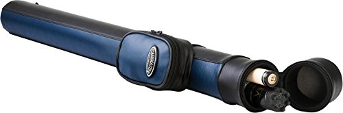 (Casemaster Q-Vault Supreme Billiard/Pool Cue Hard Case, Holds 1 Complete 2-Piece Cue (1 Butt/1 Shaft), Blue)