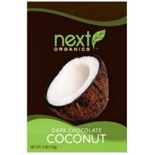 Next Organics Dark Chocolate Covered Coconut Candy, 4 Ounce -- 6 per case.