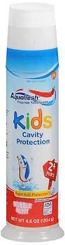 Aquafresh Kids Fluoride Toothpaste Bubble Mint Pump - 4.6 oz, Pack of 3 GLAXOSMITHKLINE CONSUMER
