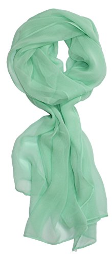Ted and Jack - Solid Silk Lightweight Accent Scarf in Mint