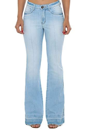 Calça Jeans Denuncia Mid Rise Flare Azul 34