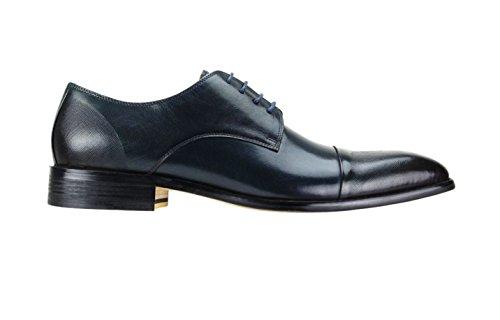 Herenkleding Schoenen Steven Land Sl0005 Lederen Schoenen Blauw