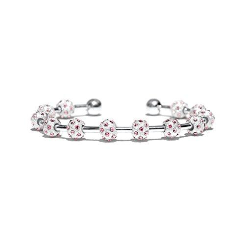 Golf Goddess Crystal Stroke/Score Counter Bracelet - Pink Peony
