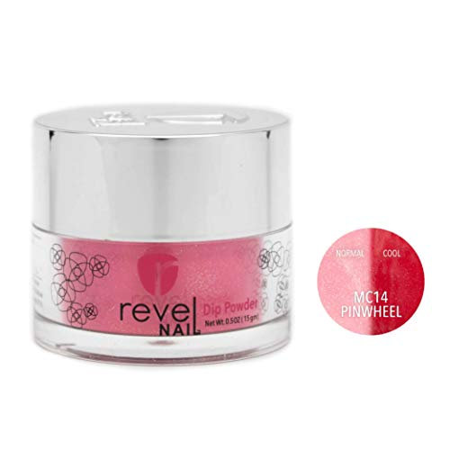 Revel Nail Dip Powder | for Manicures | Nail Polish Alternative | Non-Toxic & Odor-Free | Crack & Chip Resistant | Can Last Up to 8 Weeks | 1oz Jar | Mood Changing | Pinwheel