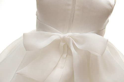 Baby Girls Dresses Christening Wedding Pageant Bow Formal Dress Ivory white (3M/0-6months) by Meiqiduo (Image #8)