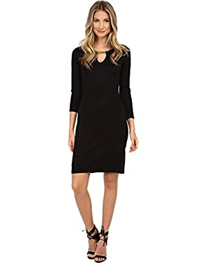 Women's Long Sleeve Sweater Sheath Dress