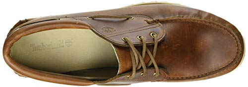 Marrón P01 Grain Medium Náuticos Handsewn Full para Timberland 3 Eye Chilmark Brown Hombre H0nx6g