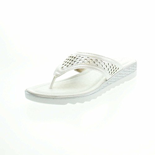 Tamaris Pearl Metallic Pantolette Zehentrenner Silver fgSHprfq