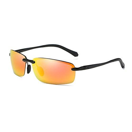 hombres blue de lens brillante sol conducción Gray libre al equitación ultra ice aluminio espejo de polarizadas Color de los Gafas deportivo de de nuevo Black aire Lens magnesio espejo Orange espejo Red frame Frame de fwH1q