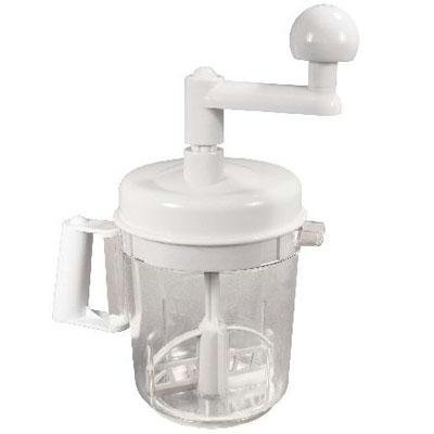Weston Multi Function 6-Cup Manual Mixer (16-0301-W), Chop and Mix in One Container, 3 Blade Chopper (Multifunction Mixer)