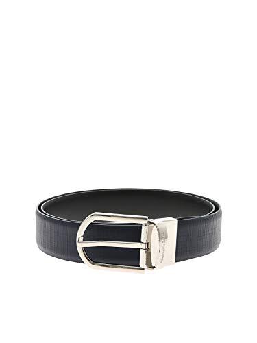 Z Zegna Men's Bline1989cmde Blue Leather Belt