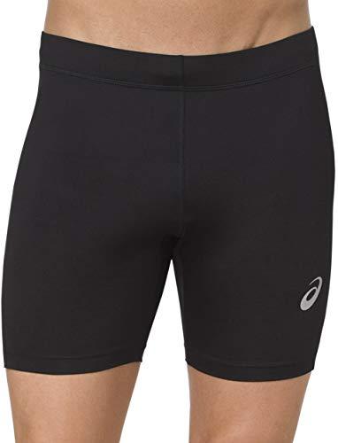 ASICS Silver 7 Inch Mens Short Running Tights - Black-L