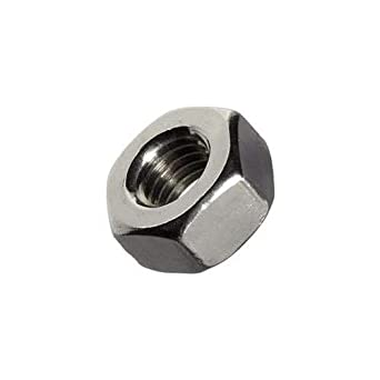 25 Pieces 18-8 Hex Nuts 5//16-18 Stainless Steel Finished Hex Nuts
