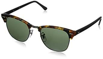 Ray-Ban Clubmaster - Gafas de sol para hombre, Multicolor (Marco: Havana/Negro, Vidrio: Verde Clásico 1157), 51 milímetros