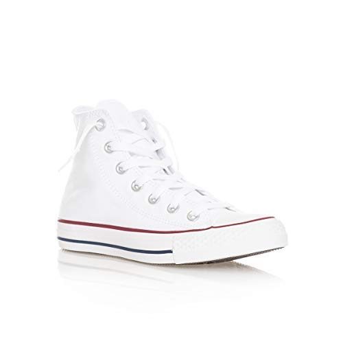 Converse Chuck Taylor All Star High Top Sneaker, Optical White, 9 Women/7 Men