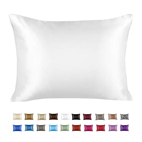 Cheap ShopBedding Luxury Satin Pillowcase for Hair - Standard Satin Pillowcase with Zipper, White (1 per Pack) - Blissford satin pillowcase