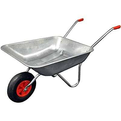 simpaoutdoor-Durable-Silver-Galvanised-Wheelbarrow-65-Litre-with-Pnuematic-Tyre-and-Large-Plastic-Leaf-Grabber-Set