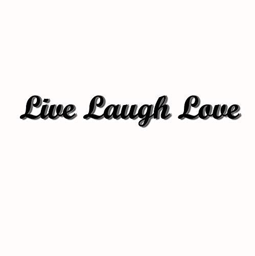 Love Decor Studio _ 1968 Wooden Letters Art 3D Cutout 'Live, Laugh, Love' Set Products (13.4cmX45.1cmX1.5cm) by Love Decor Studio _ 1968