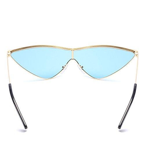 Gafas KKCF De De Portátiles Manera Goldframebluepiece La Gafas Hombres Conducción De Sol UV400 De Gafas Los Polarizadas Señoras Playa Goldframebluepiece Gafas Sol Protección De De vwr46vFq