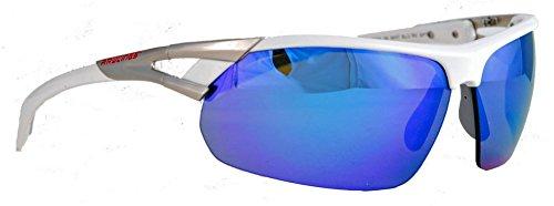 Rawlings 28 SPT Unisex Adult Sport Sunglasses Shades Wrap Blue Mirror - Sunglasses Rawlings Baseball